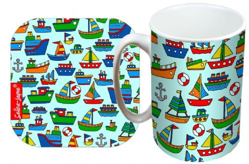 Selina-Jayne Boats Limited Edition Designer Mug and Coaster Gift Set